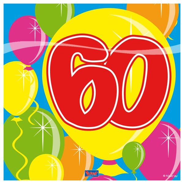 Serviette Ballon 60 Geburtstag Party Tischschmuck Deko