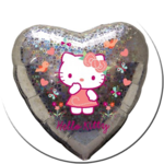 Hello Kitty Herz - Leerballon