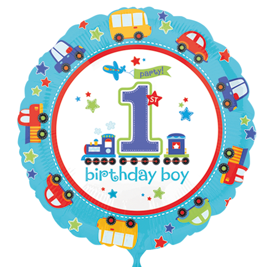 Luftasia Onlineshop Folienballon 1 Geburtstag Autos Junge
