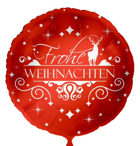 Frohe Weihnacht edel rot - Leerballon